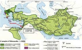 Étendue de l'empire d'Alexandre