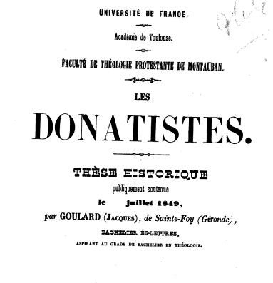 Donatistes