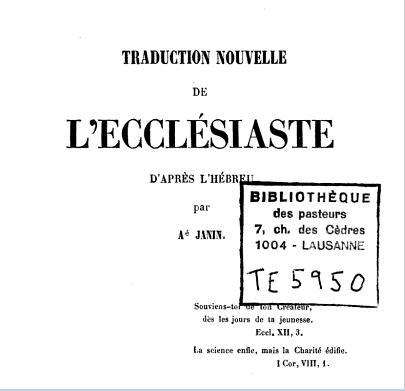 EcclesiasteTr1